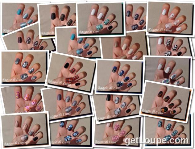 Raggio di Luna manicures collage October 2015 nail art