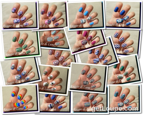 Raggio di Luna manicures collage August 2014 nail art