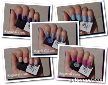 Raggio di Luna manicures collage July 2016 UV gel polishes