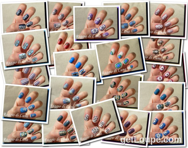 Raggio di Luna manicures collage June 2014 nail art
