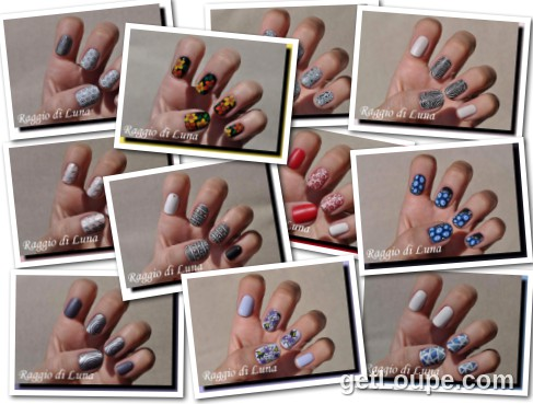 Raggio di Luna manicures collage August 2016 nail art