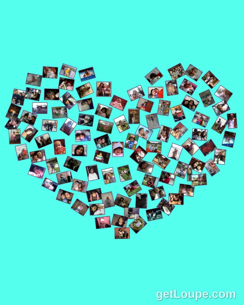 Feliz Dia Del Amor Loupe Collage Loupe