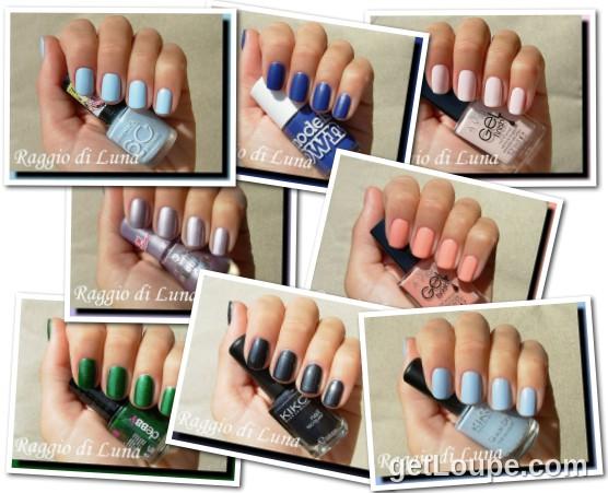Raggio di Luna manicures collage November 2014 nail polishes