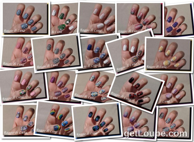 Raggio di Luna manicures collage June 2016 nail art
