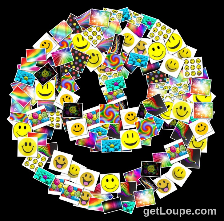 Smiley Face   Loupe Collage