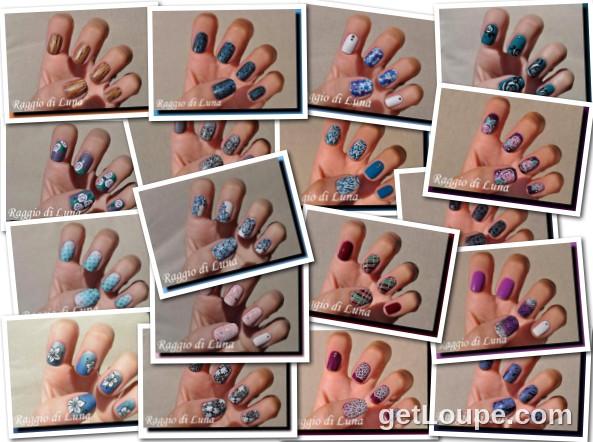 Raggio di Luna manicures collage September 2015 nail art