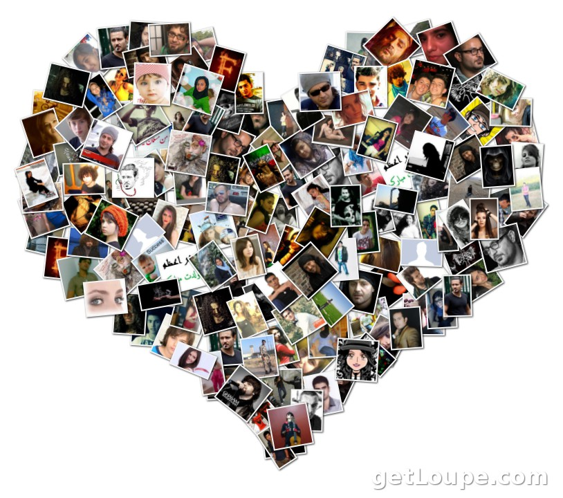 all of you are in my heart | Loupe Collage | Loupe