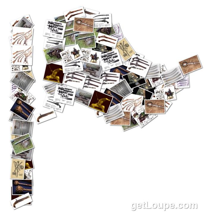 Козак славен конем та шаблюкою Самопал, шабля, спис, стріли, обух (келеп), бойовий молоток, гармата, пістоль, сагайдак, якірці, кинджал, панцер, пищаль, мушкет