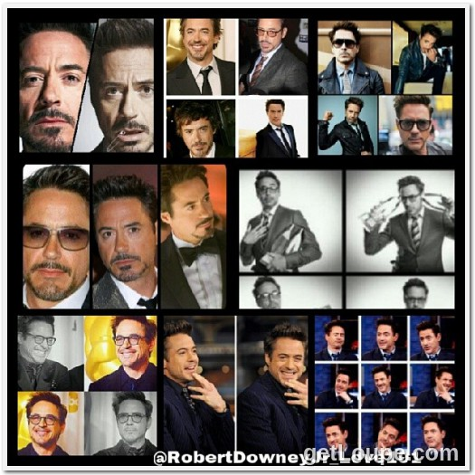 Collage Of RDJ Made using Loupe - a fun & fast way to make cool creations with your photos.