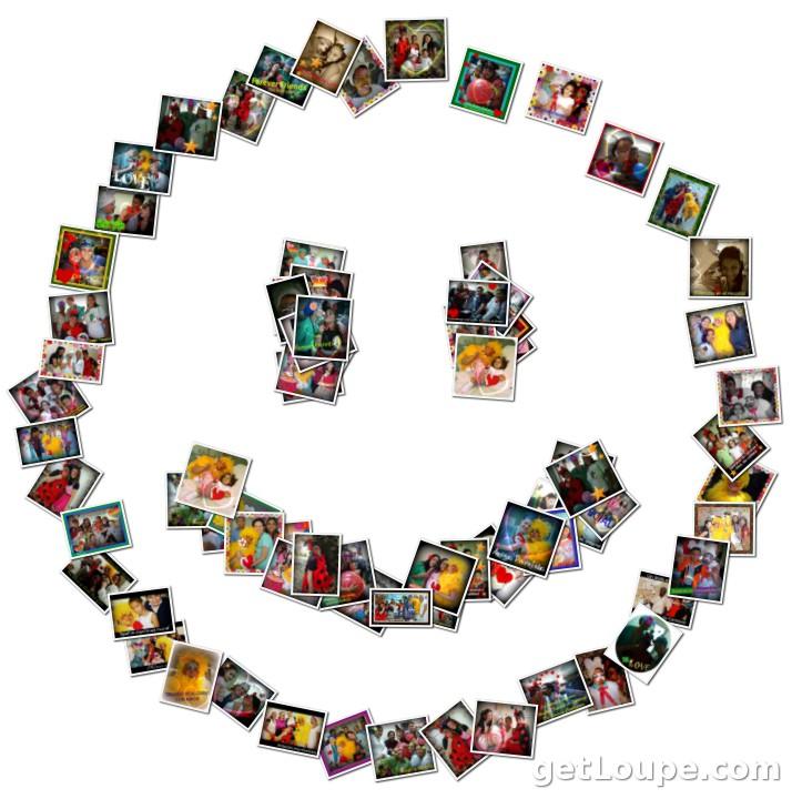 Sonrisas de carnaval loupe collage loupe - Como hacer un collage de fotos a mano ...