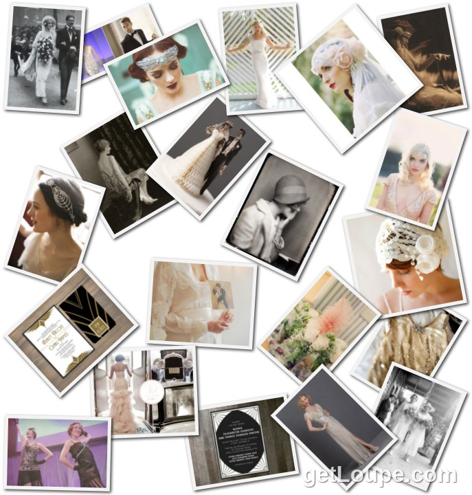 The Roaring Twenties Wedding http://www.nostalgiafilm.com/blog/2013/01/roaring-20s-wedding-inspiration/