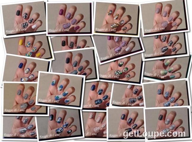 Raggio di Luna manicures collage April 2016 nail art