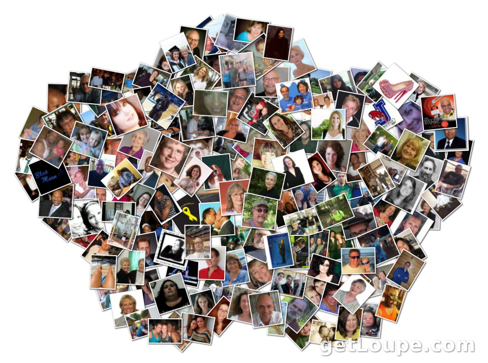 My Facebook Friends Collage Sept 2012 Made