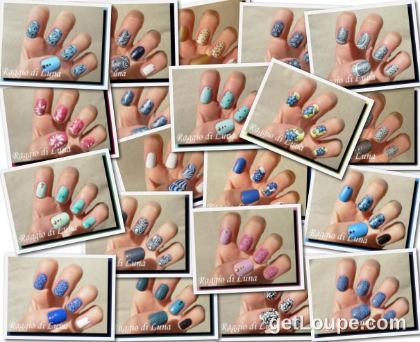 Raggio di Luna manicures collage May 2015 nail art